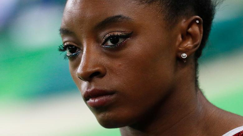 Simone Biles at gymnastics event