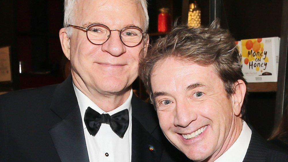 Comedians Steve Martin (L) and Martin Short attend the after party for the 2016 Tony Awards Gala