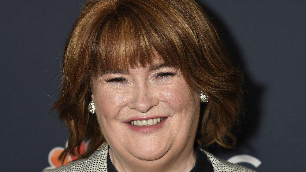 Susan Boyle attends 'America's Got Talent' Season 14 Live Show Red Carpet