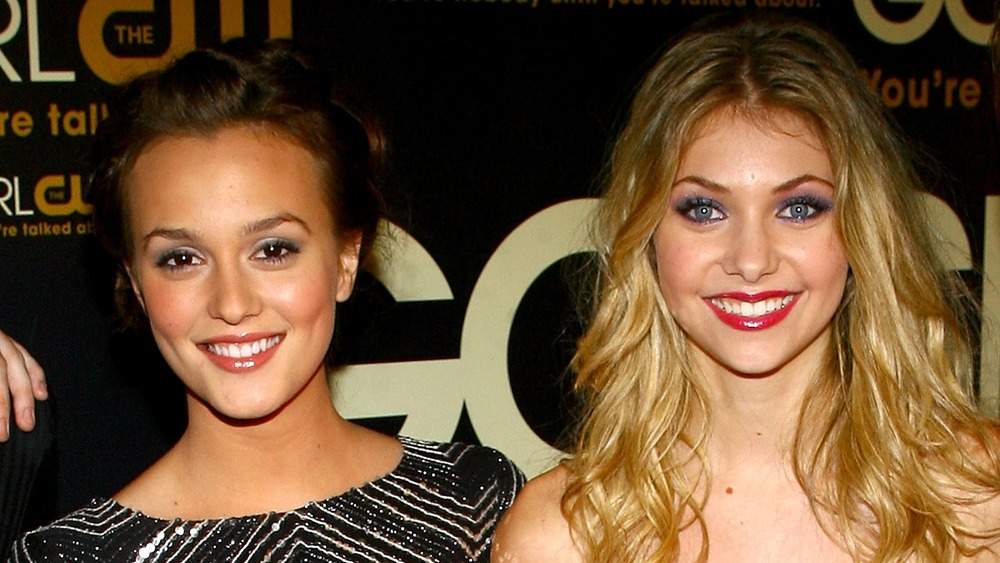 Taylor Momsen and Leighton Meester on a red carpet