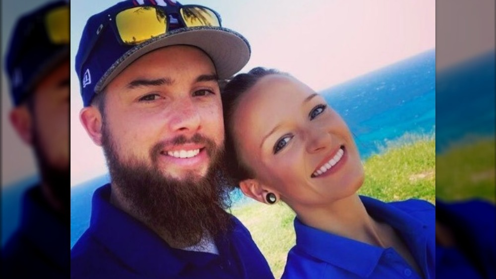 Maci Bookout and Taylor McKinney on a golf course