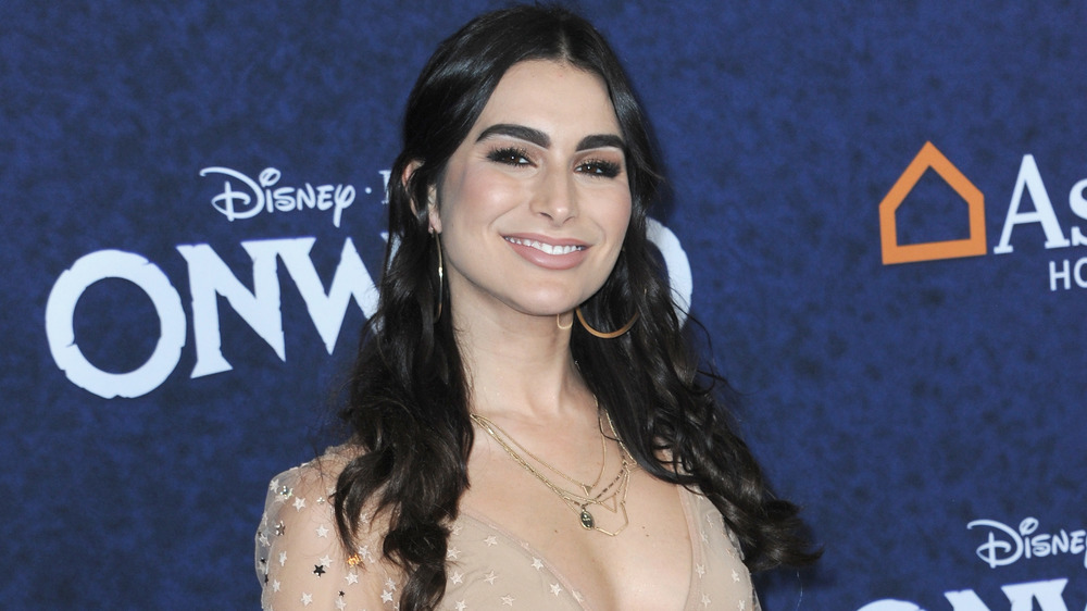 Ashley Iaconetti attends the premiere of Disney & Pixar's Onward in 2020
