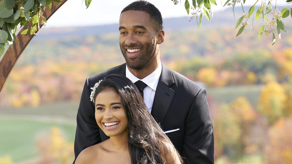 Matt James and Jessenia Cruz on The Bachelor