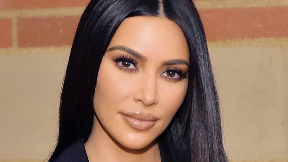 Kim Kardashian smiles during a public outing