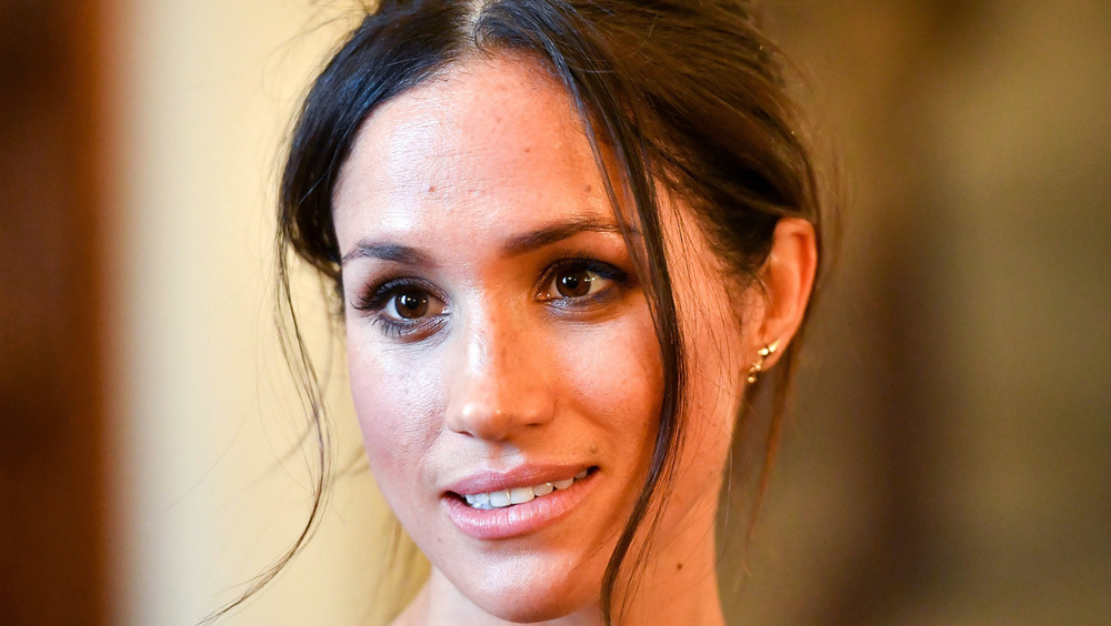 Meghan Markle gives a perplexed look while on royal duty