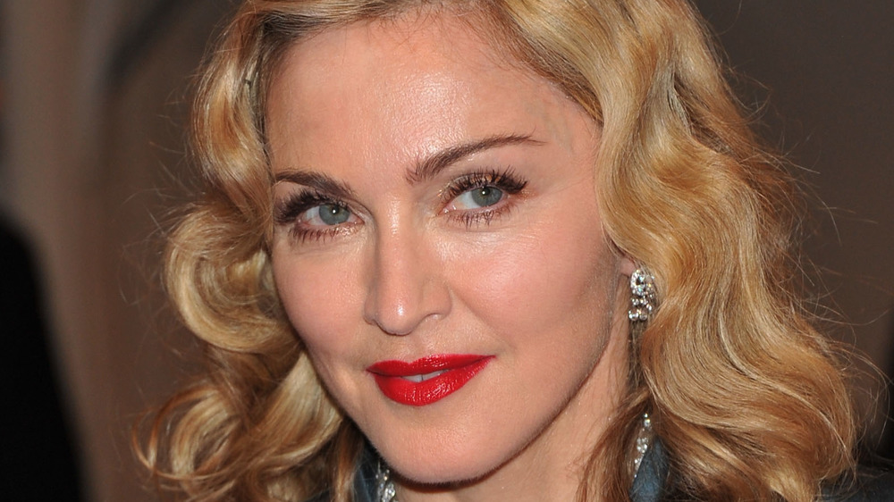 Madonna gazing up to the right