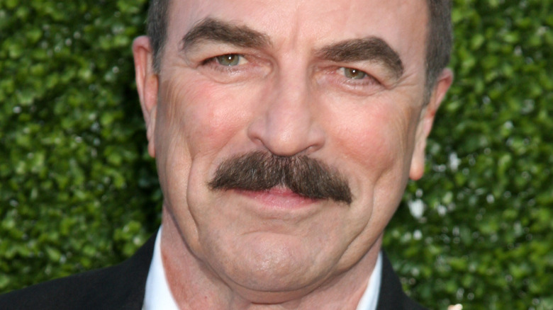 Tom Selleck and his 'stache on the red carpet