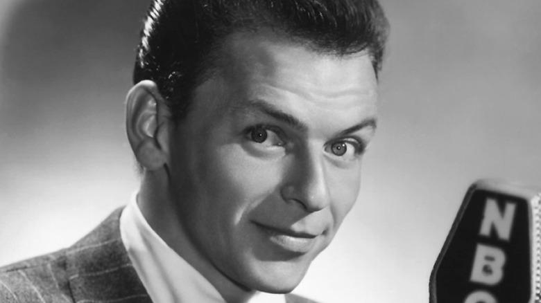 Frank Sinatra posing