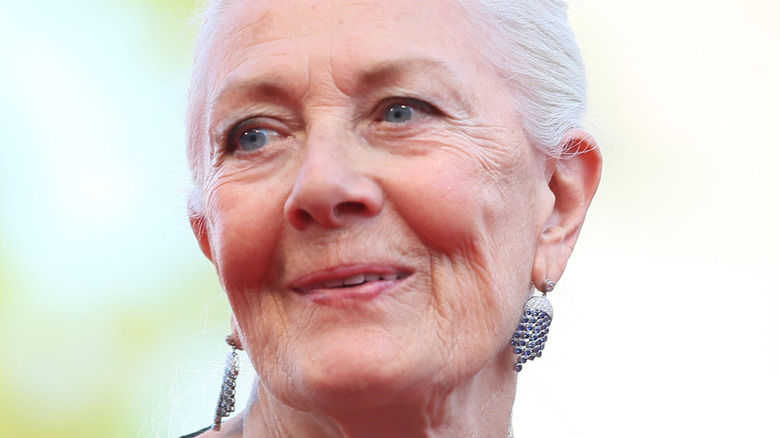 Vanessa Redgrave looking into the distance at the Venice Film Festival
