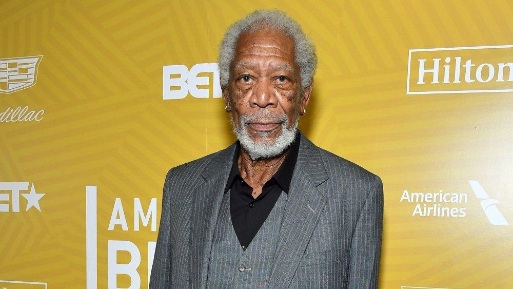Morgan Freeman at American Black Film Festival Honors Awards Ceremony in 2020