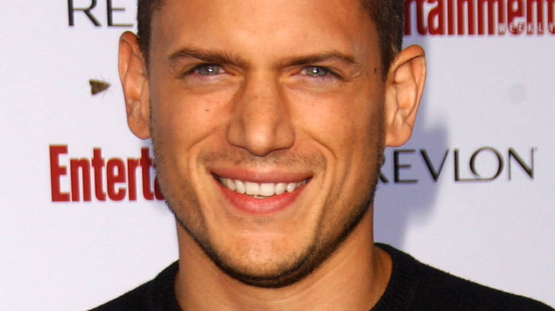 Wentworth Miller smiling on the red carpet