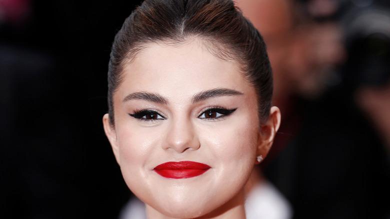 Selena Gomez smiling on red carpet