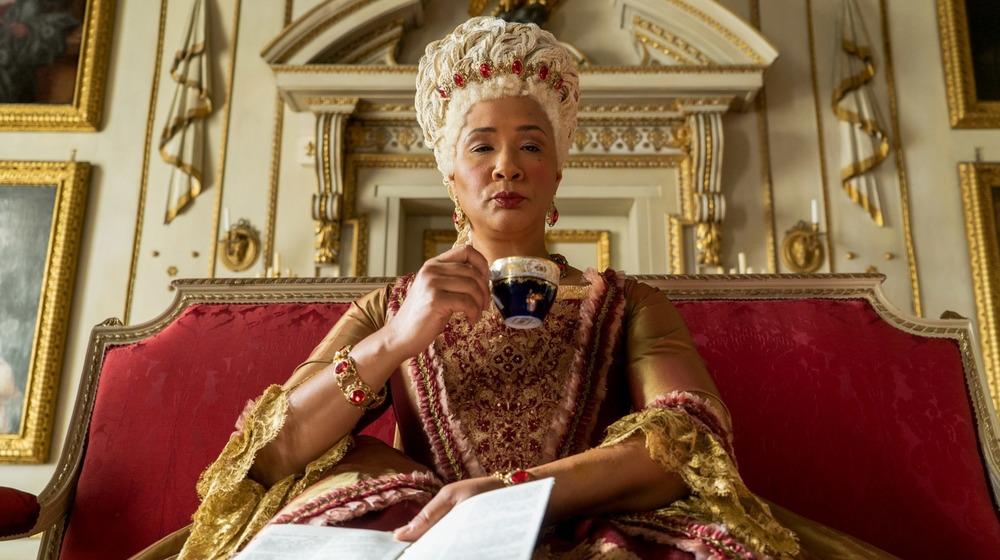 Golda Rosheuvel as the queen in Bridgerton