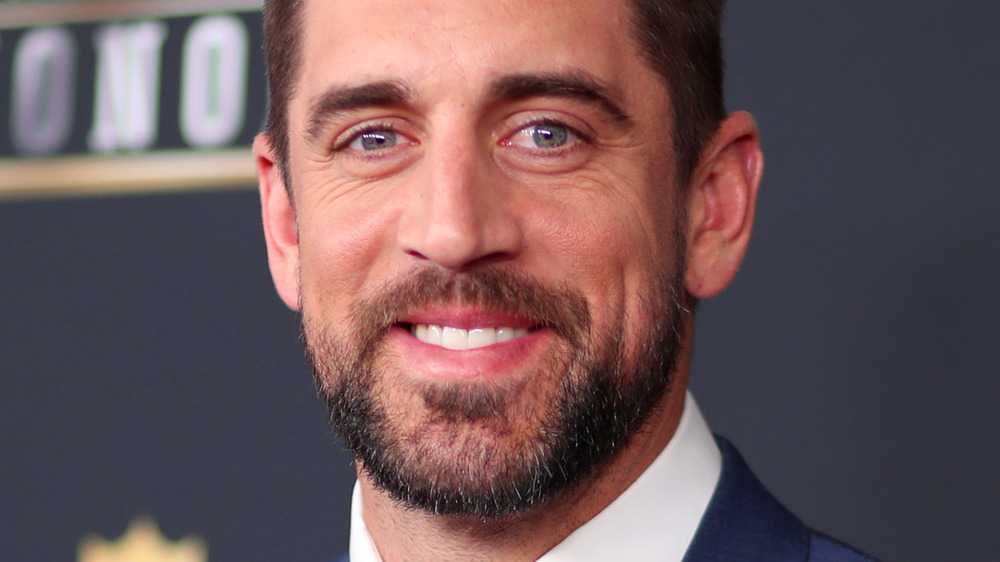 Aaron Rodgers smiling at the NFL Honors