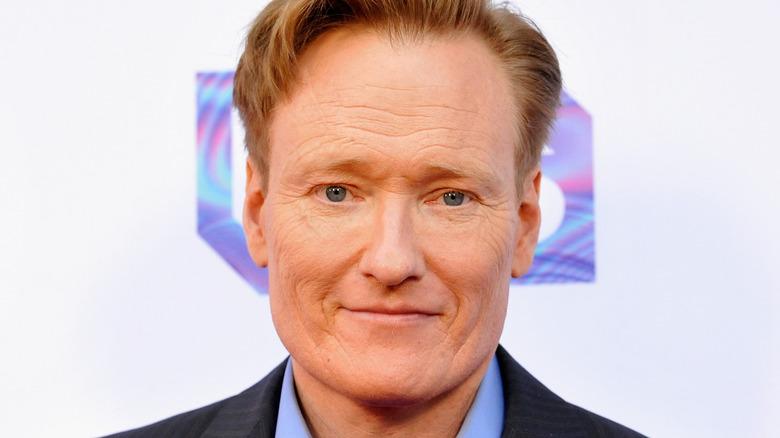 Conan O'Brien looking at camera