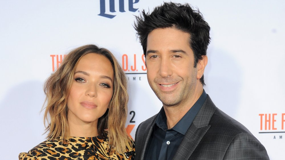 Zoe Buckman and David Schwimmer at the premiere of American Crime Story: The People V. O.J. Simpson