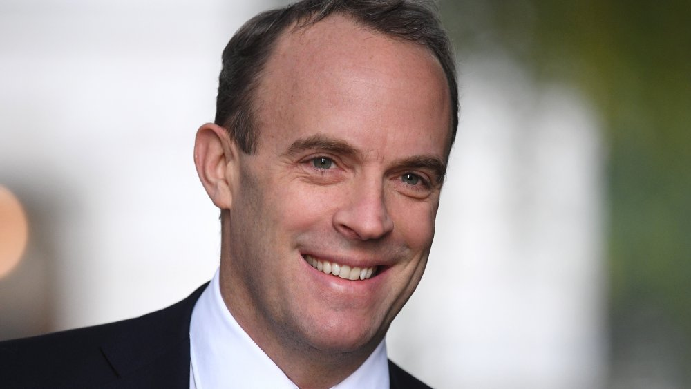 Britain's Foreign Secretary and First Secretary of State Dominic Raab arrives in Downing Street