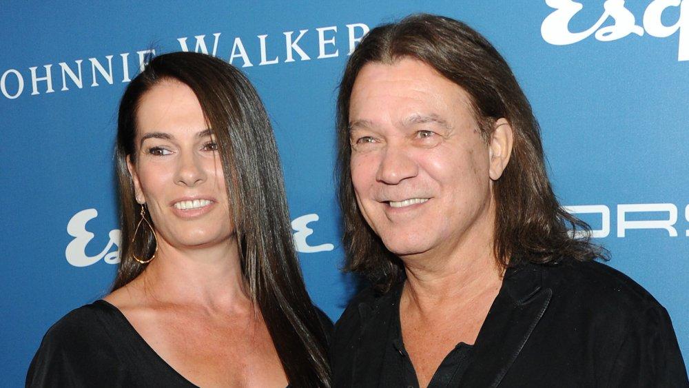 Janie Liszewski and Eddie Van Halen at Esquire 80th anniversary