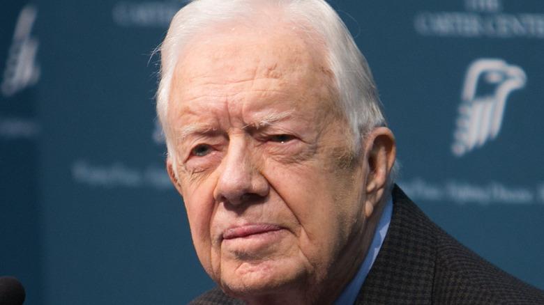 Jimmy Carter looking stern