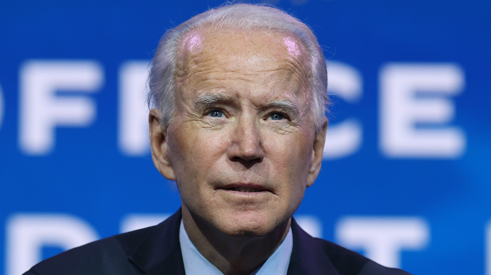 Joe Biden looking serious
