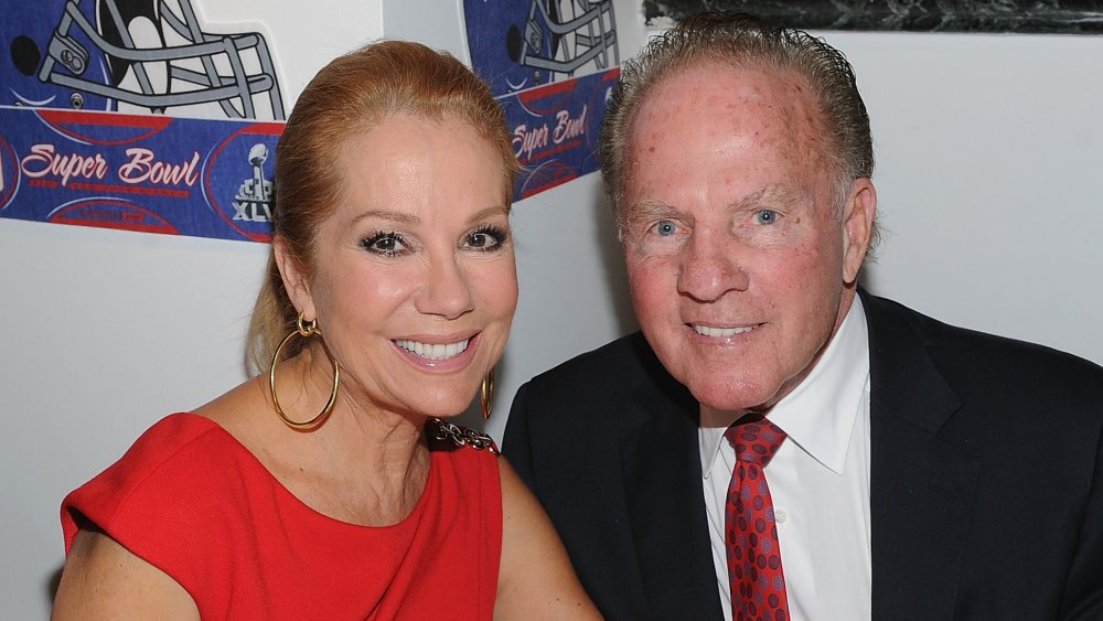 Kathie Lee Gifford and Frank Gifford at the New York Giants Super Bowl Pep Rally Luncheon