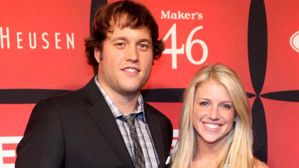 Matthew Stafford and Kelly Stafford