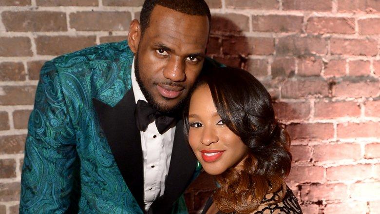 LeBron James and his wife Savannah James