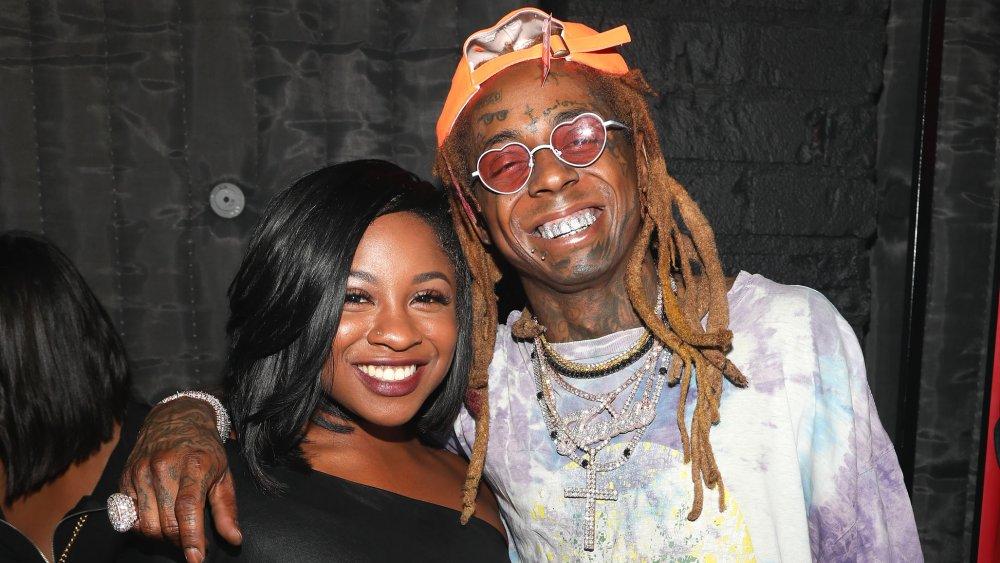Reginae Carter & her dad Lil Wayne