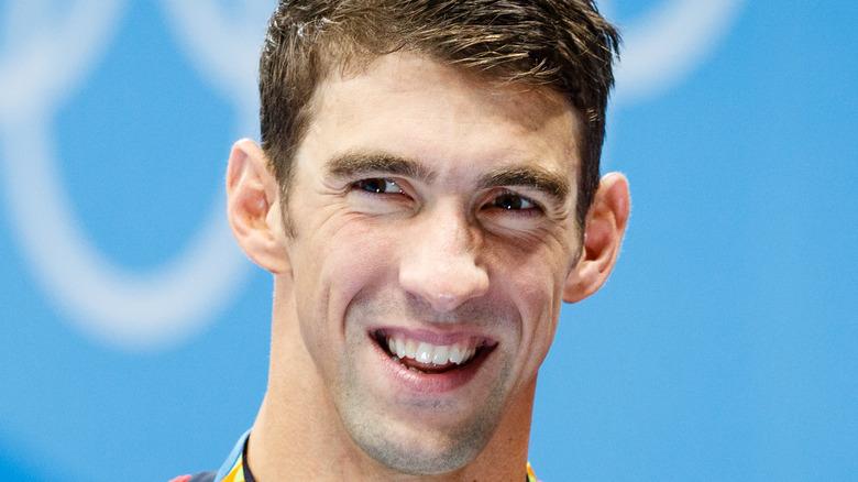 Michael Phelps smiling