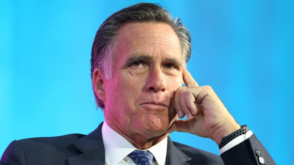 Mitt Romney in a classic thinking pose
