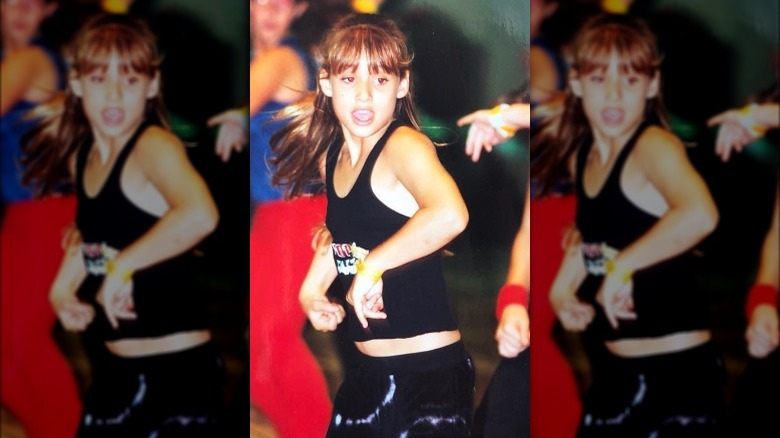 Montana Tucker dancing as a child