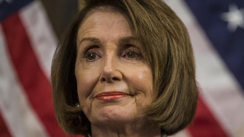 Nancy Pelosi smirking