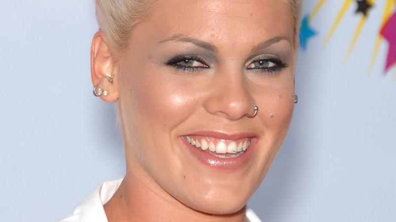 Pink smiling