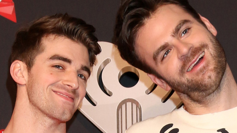 Andrew Taggert and Alex Pall of the Chainsmokers on a red carpet