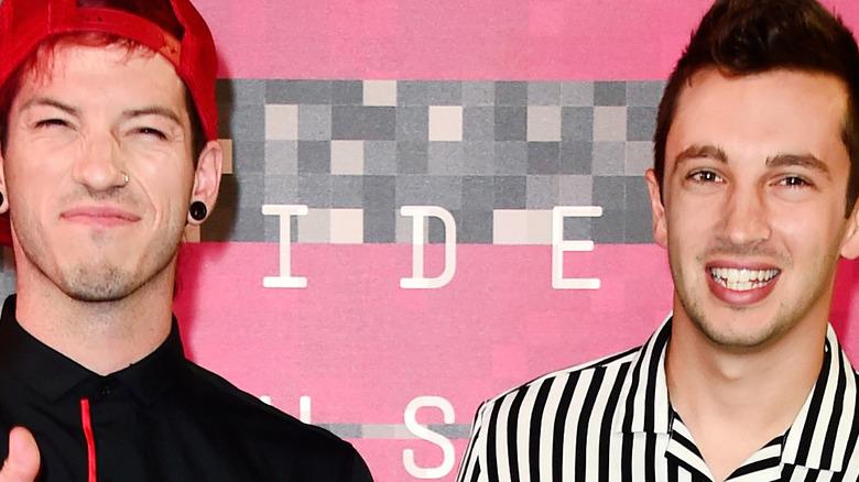 Tyler Joseph and Josh Dun smiling