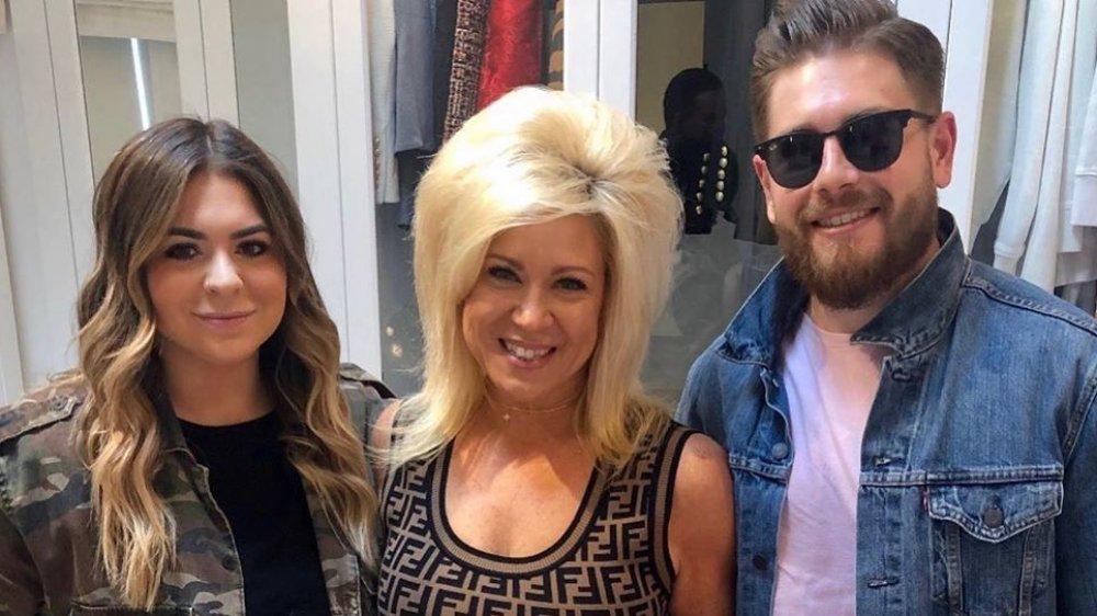 Victoria Caputo, Theresa Caputo, and Larry Caputo, Jr. pose for an Instagram photo