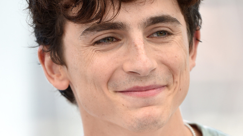 Smiling Timothée Chalamet at the 74th annual Cannes Film Festival 2021