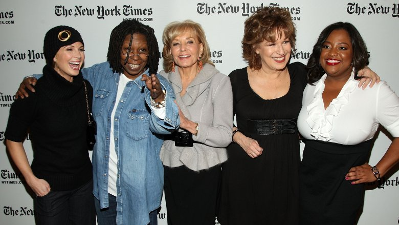 Elizabeth Hasselbeck, Whoopi Goldberg, Barbara Walters, Joy Behar, and Sherri Shepherd