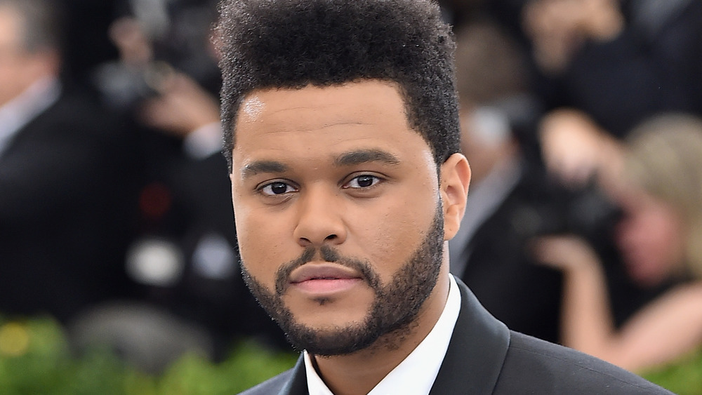 The Weeknd with neutral expression