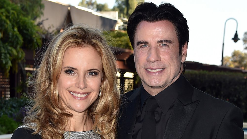 Kelly Preston and John Travolta at The Church of Scientology Celebrity Centre 45th Annual Gala