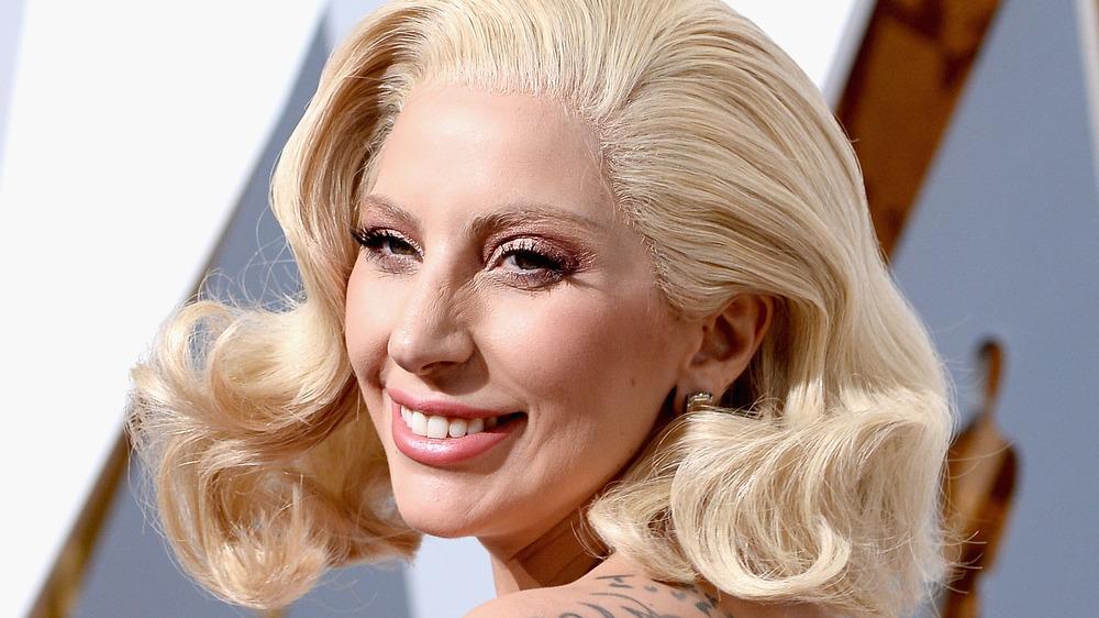 Lady Gaga on red carpet