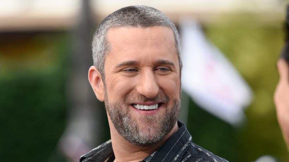 Dustin Diamond smiling with a beard
