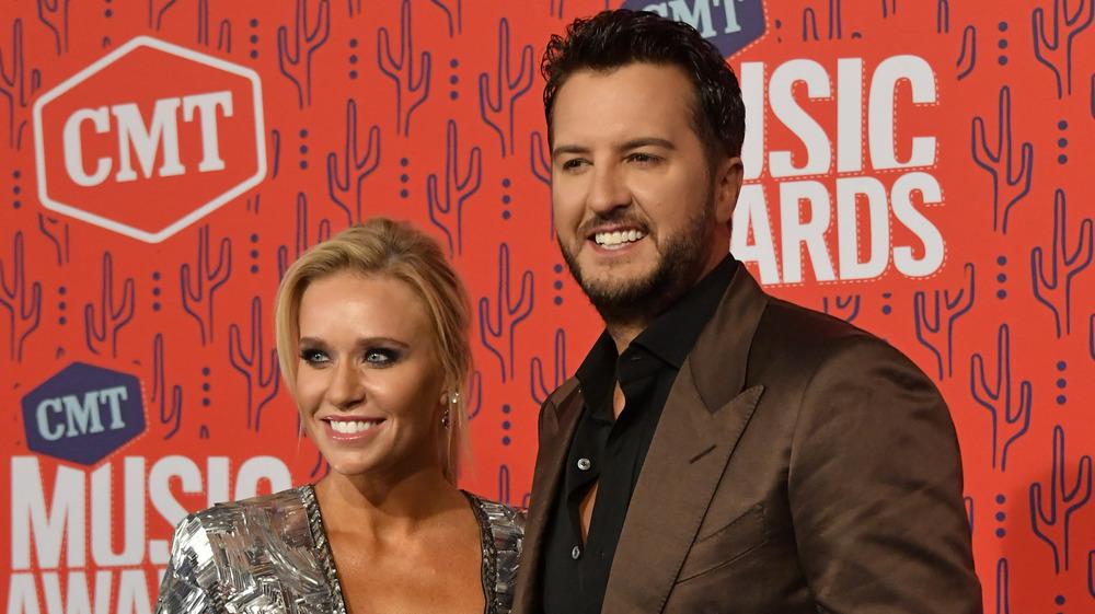 Luke Bryan and Caroline Boyer attend 2019 CMT Music Awards