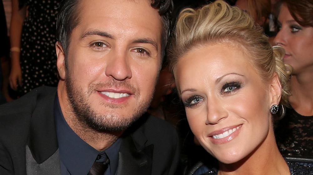 Caroline Boyer and Luke Bryan smiling
