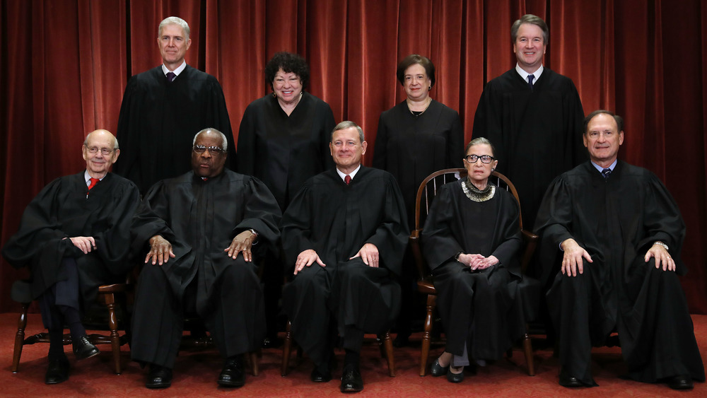 United States Supreme Court Justices posing for a picture