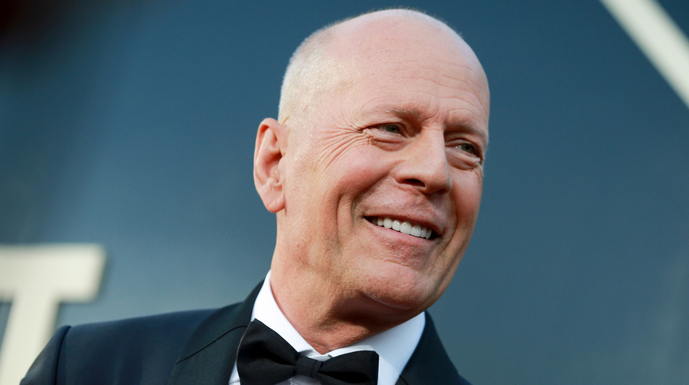 Bruce Willis on the red carpet