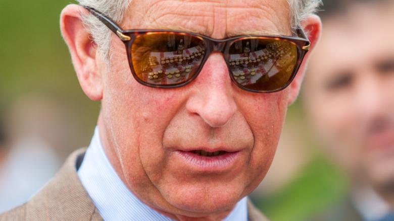Prince Charles wearing sunglasses