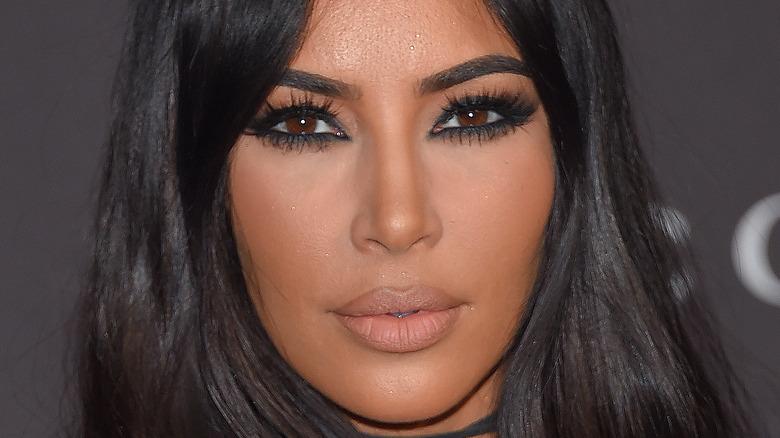 Kim Kardashian gazing in front