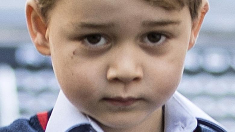Prince George brown eyes
