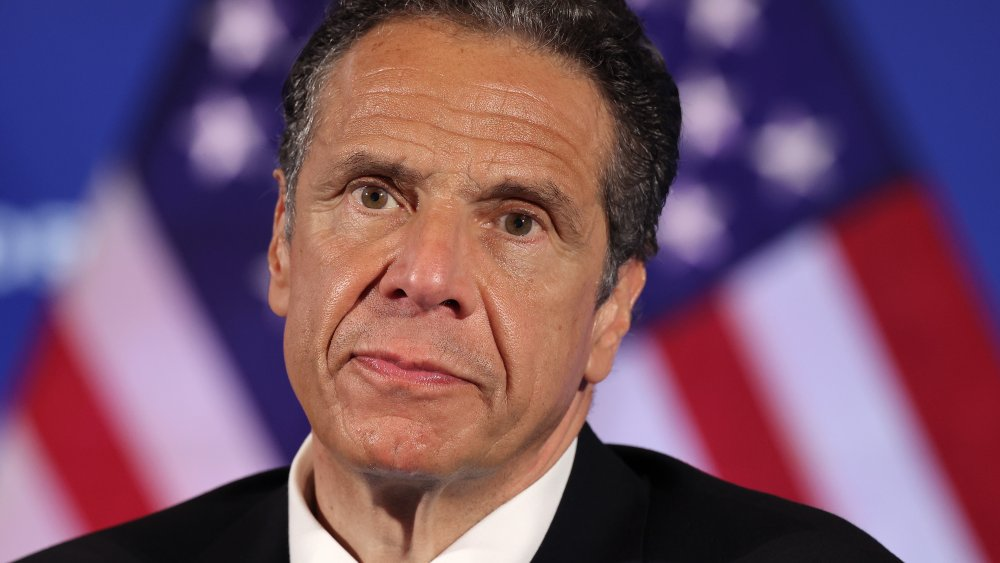 New York Governor Andrew Cuomo holds a news conference at the National Press Club May 27, 2020 in Washington, DC